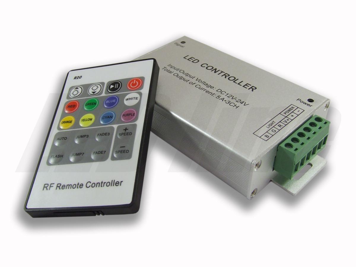 Ledin RGB kontroler pro LED pásky 180W, dotykové dálkové RF ovládání - tlačítkový ovladač